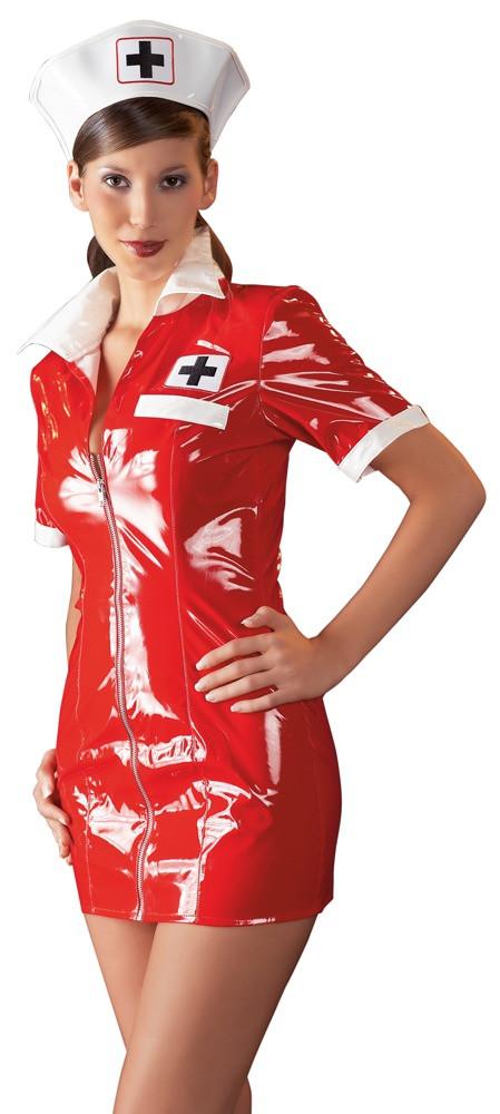 Лаковый костюм Медсестра (S)