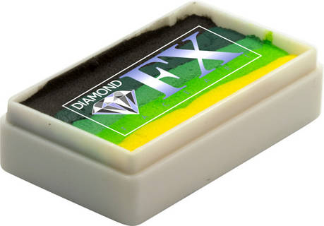 Аквагрим Diamond FX cплит кейк 28 g Зелёный ковёр, фото 2