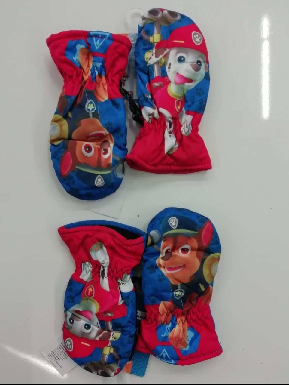 Варежки балоневые Disney для мальчиков оптом, арт.800-552