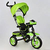 Велосипед 3-х колёсный 6699 Best Trike (1) САЛАТОВЫЙ, надувные колёса, поворотное сидение, фара, ключ зажигания