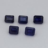 Сапфир синий октагон 6х7 мм. 2,20 карат