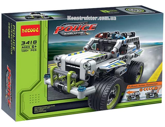 """Конструктор Decool 3418 """"Полицейский патруль"""" 185 деталей. Аналог Lego Technic 42047"""