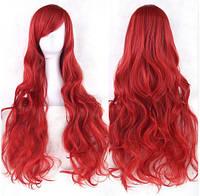 Длинные парики - 80см, Темно-красные, алые волнистые волосы, косплей, анимэ
