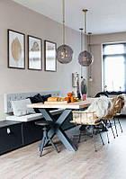 Стол Loft L-37, 2400*1000, массив ясеня или дуба, мебель лофт