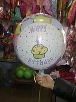Шар   1-й День рождения, надутый гелием