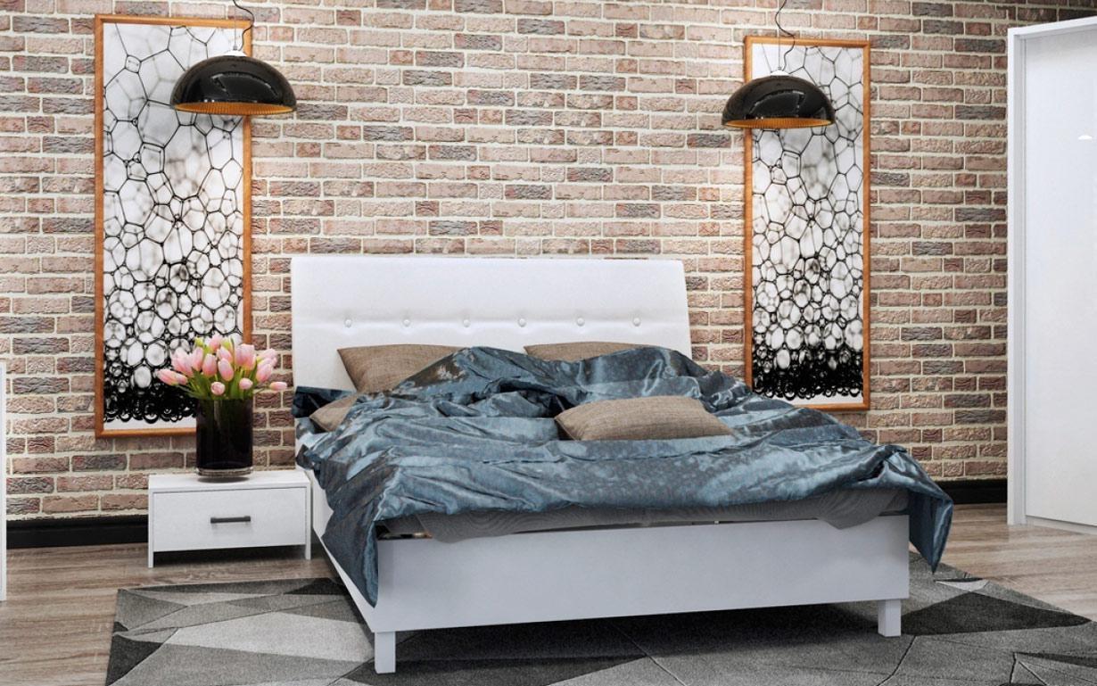 Кровать Рома Мягкая спинка 160х200 см. МироМарк