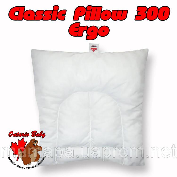 40х40 Ontario Classic Pillow 300 Ergo Детская подушка с рождения