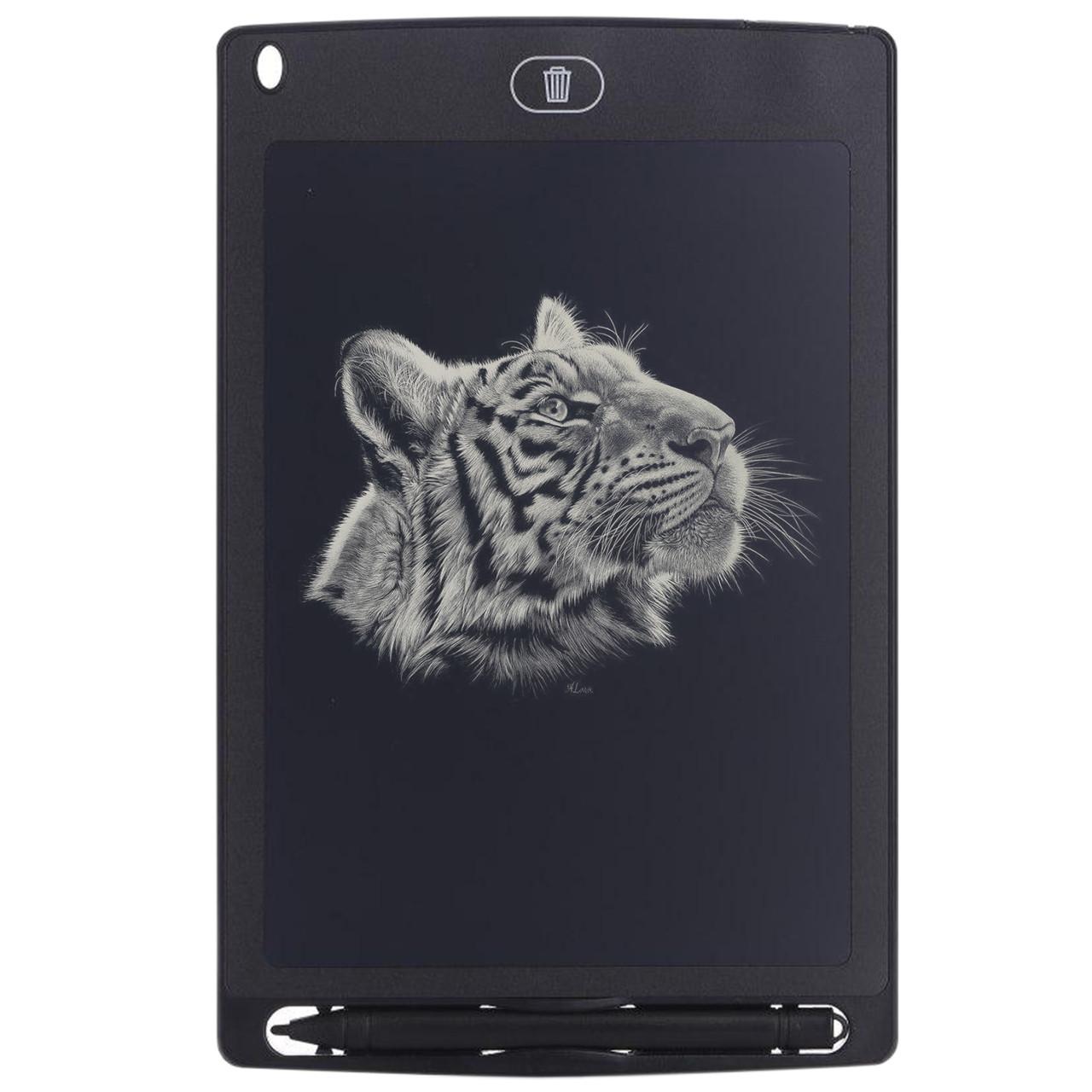 """ϞГрафический планшет Lesko LCD Writing Tablet 8.5"""" Black с стилусом для рисования заметок записей"""