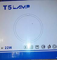 Лампа люминесцентная кольцевая T5 22W, фото 1