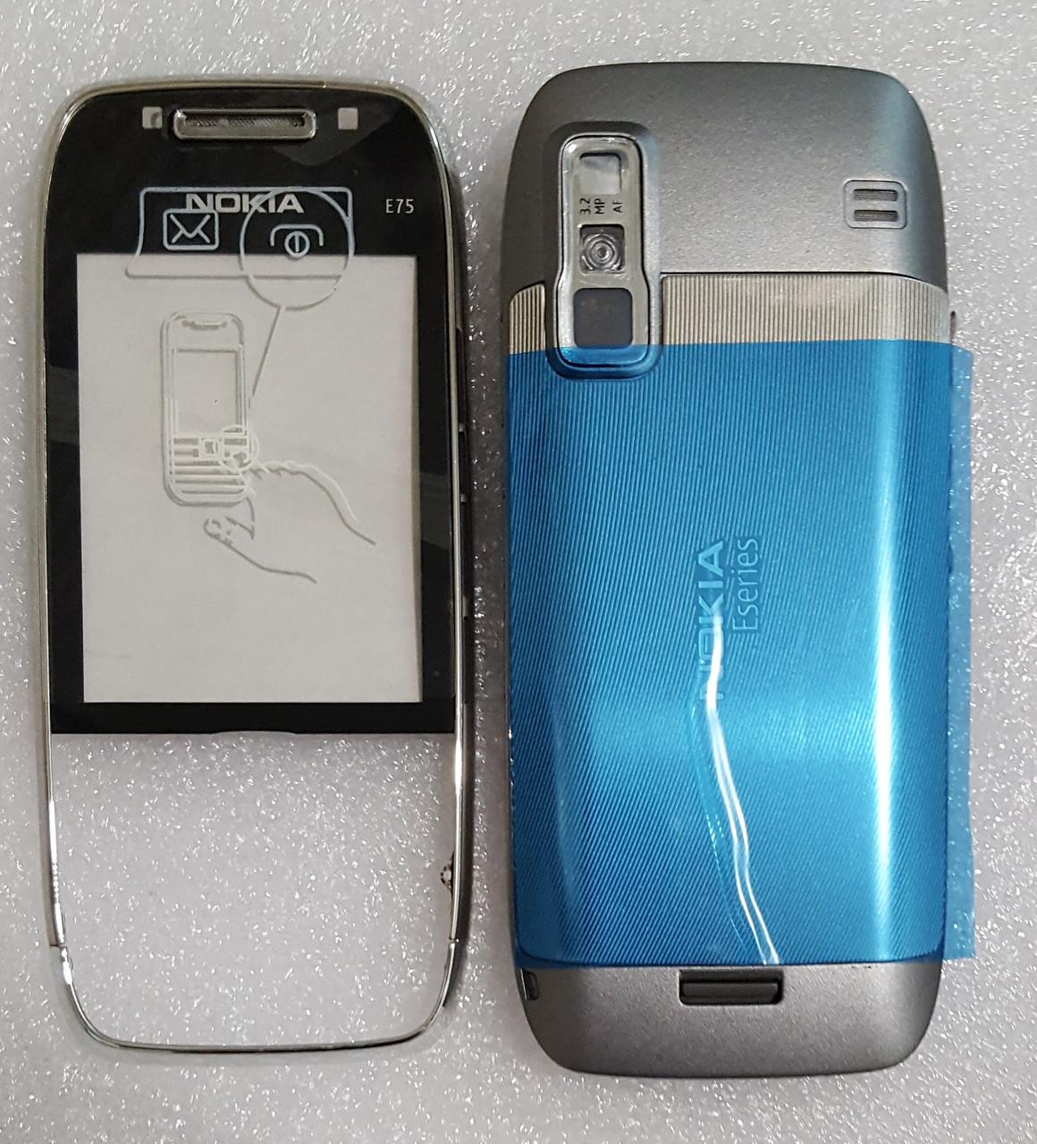 Корпус для Nokia E75 silver
