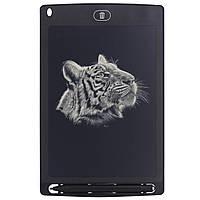 "✓Планшет для рисования Lesko LCD Writing Tablet 8.5"" Black графический стилус в комплекте"