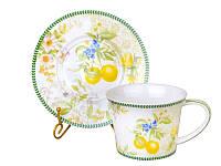 Чайный набор фарфоровый Лимон на 6 персон 924-372