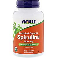 Препарат для поддержки работы организма NOW Foods Spirulina 500 (200 таб)