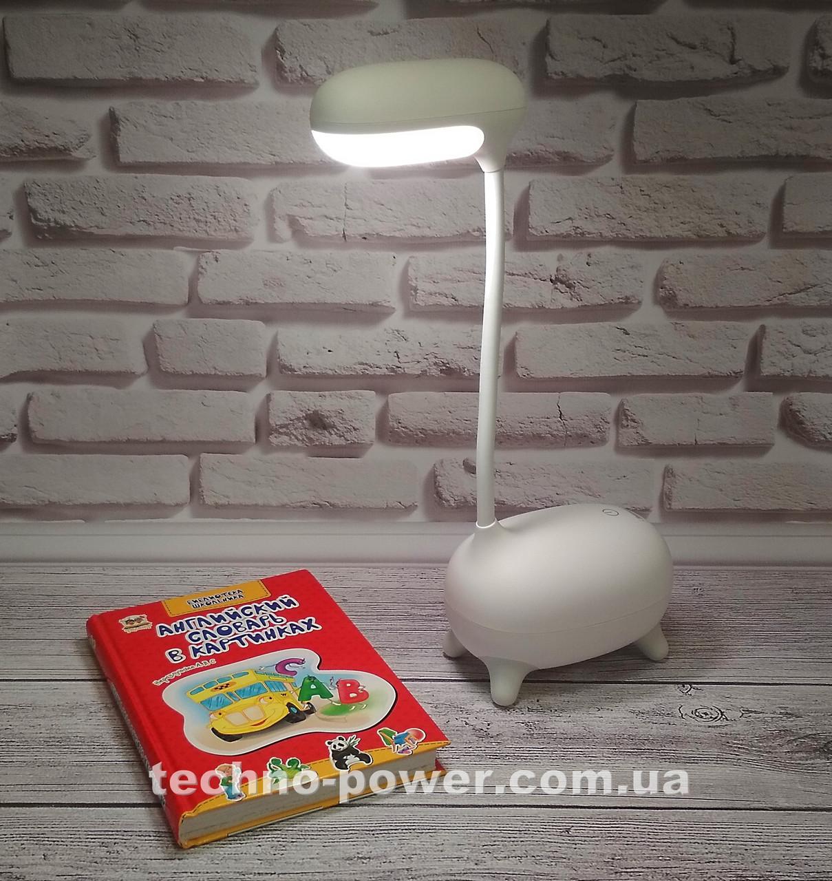 Детская настольная LED лампа Remax Deer LED Lamp RT-E315 с аккумулятором. Портативная Led лампа детская