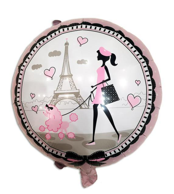 Шар фольгированный круглый Париж