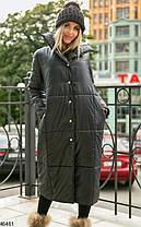Женская  удлиненная  куртка из плащевки  размеры 50-52,52-54, фото 2