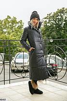 Женская  удлиненная  куртка из плащевки  размеры 50-52,52-54, фото 3