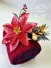 Подарок из полотенец Рулет рождественский