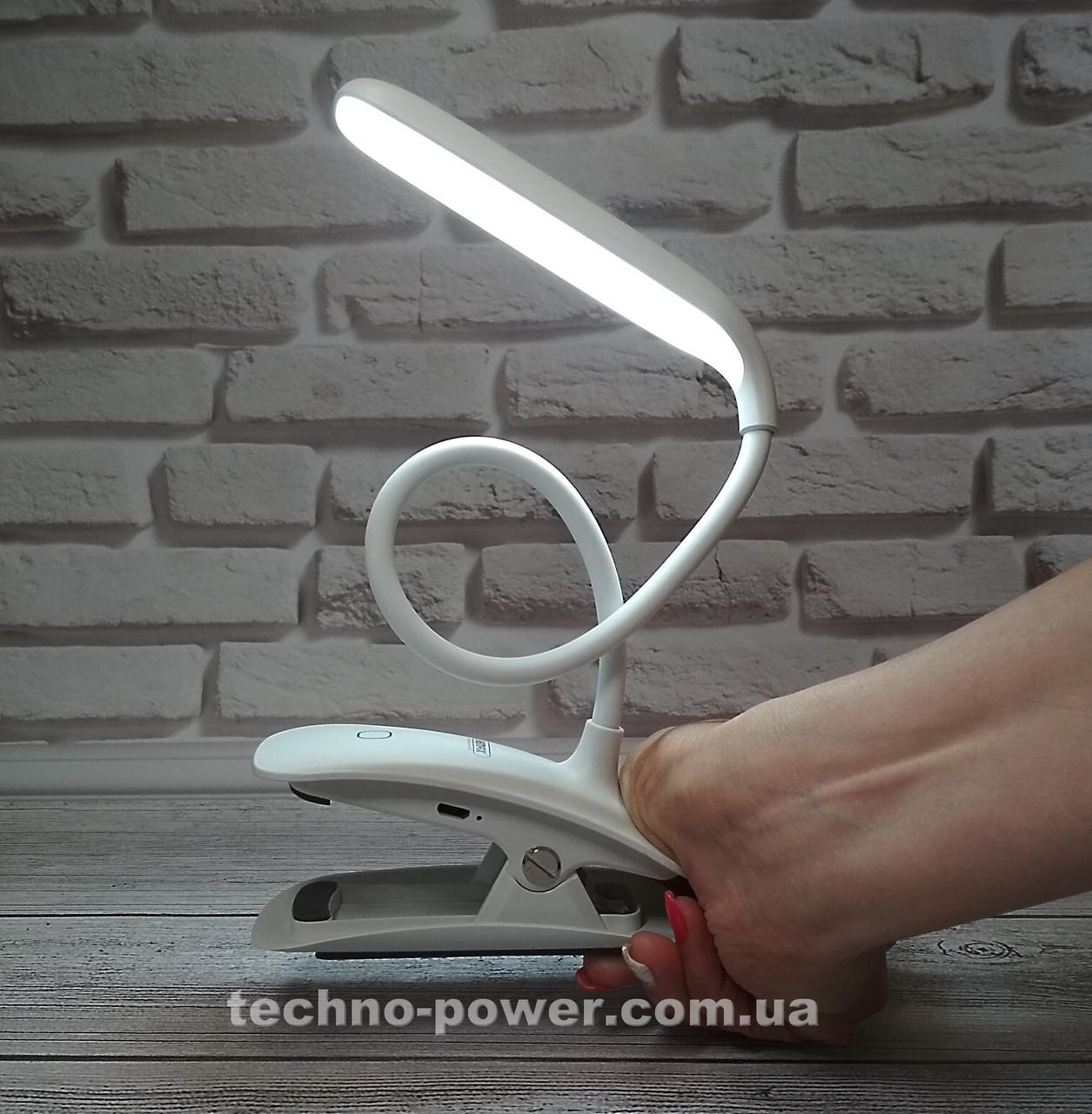 Настольная лампа-прищепка Remax RT-E195 Dawn LED Lamp с аккумулятором