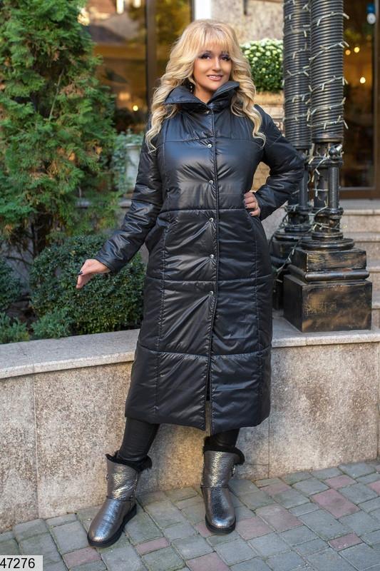 Женская  удлиненная  куртка из плащевки  размеры 50-52,52-54