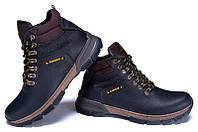 Мужские зимние кожаные ботинки ZG Flotar brown line, фото 1