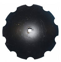 Диск бороны John Deere ромашка D=610 мм,h=6мм,Z10 (бор) (N242047 / B35607)