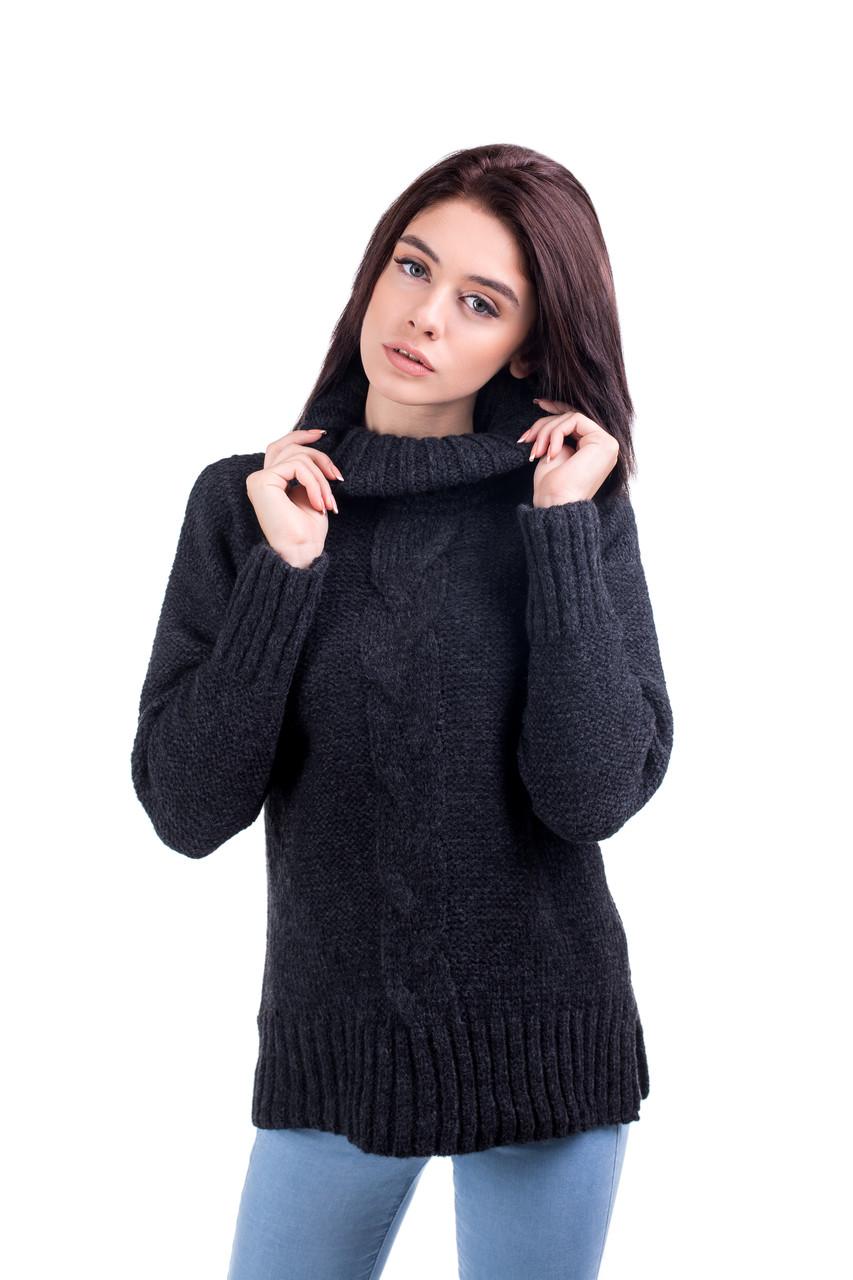 Теплый свитер с горлом оверсайз 44-46,46-48 (50-52) размеры 4цвета