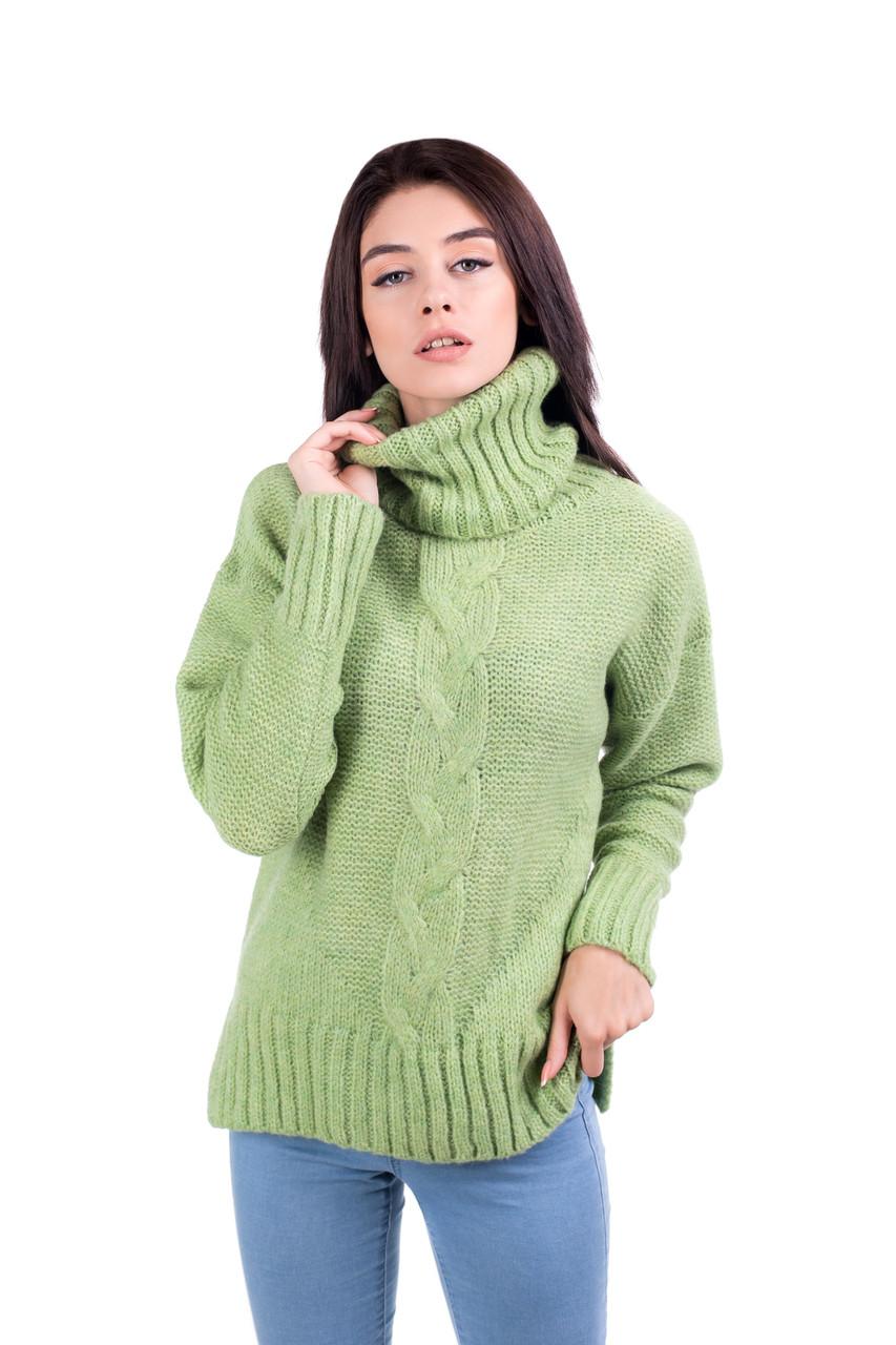 80847b53715 Теплый свитер с горлом оверсайз 44-46