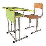 Школьная парта и ученический стул для НУШ с регулировкой высоты, комплект мебели, фото 6