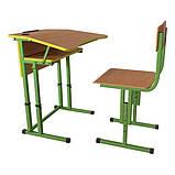 Школьная парта и ученический стул для НУШ с регулировкой высоты, комплект мебели, фото 5