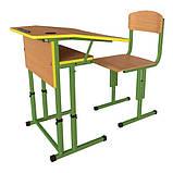 Школьная парта и ученический стул для НУШ с регулировкой высоты, комплект мебели, фото 7