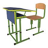 Школьная парта и ученический стул для НУШ с регулировкой высоты, комплект мебели, фото 8