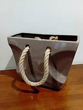 Декор - ваза Сумка из керамики 17*9*29см, фото 3