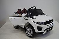 Детский электромобиль Джип M 3213 EBLR-1, Land Rover, Кожа, EVA резина, Амортизаторы, белый