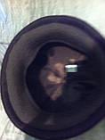 Фетровый женский берет украшенный лаковыми шнурками 56-58, фото 5