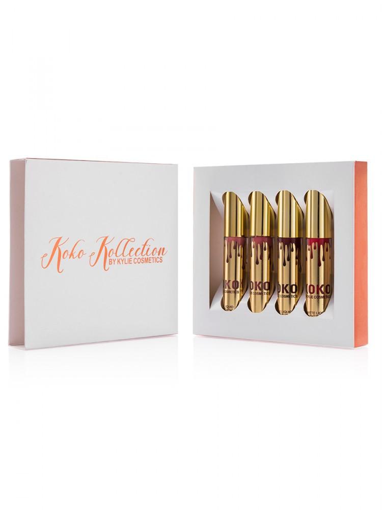 """Набор блесков Kylie Coco Collection (4 шт) в упаковке """"super"""""""