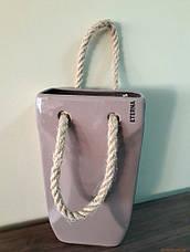 Декор из керамики в виде сумочки 24*10,5*18см, фото 3