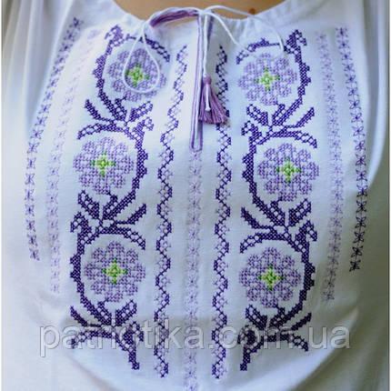 Женская вышиванка Цветы с коротким рукавом 3 цвета   Жіноча вишиванка Квіти з коротким рукавом 3 кольори, фото 2