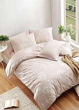 Постельное белье Eponj Home ранфорс Kralice Vizon бежевый евро размер