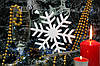 Снежинка из пенопласта средняя 15 см