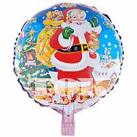 Шар фольгированный круглый Дед Мороз