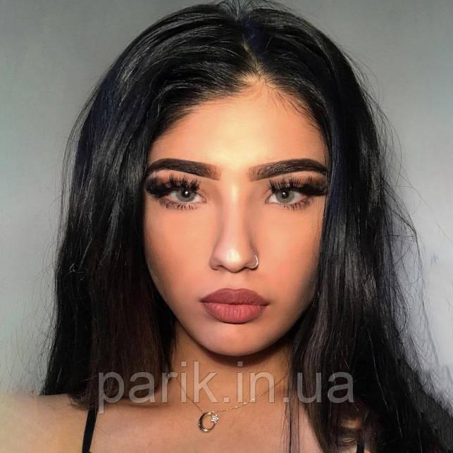 Жіноча натуральна чорна перука