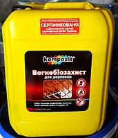 Огнебиозащита Композит для древесины бесцветный канистра 10 л