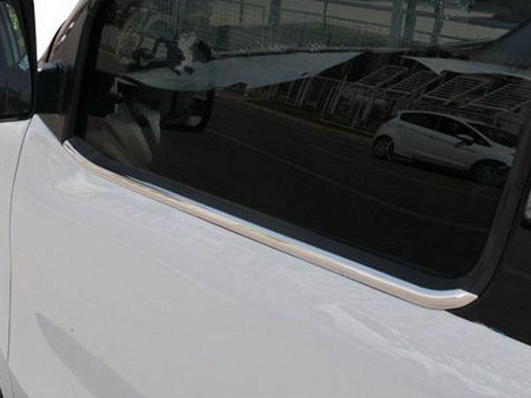 Наружняя окантовка стекол (8 част., нерж) - Fiat Linea 2006+ и 2013+ гг.