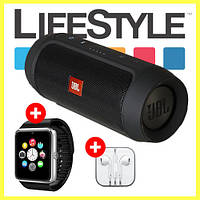 Акция! Колонка JBL Charge 2 Plus + Smart Watch GT08 + Apple Ear Pods в Подарок!, фото 1