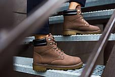 Мужские зимние кроссовки тимб кейдж коричневые топ реплика, фото 2