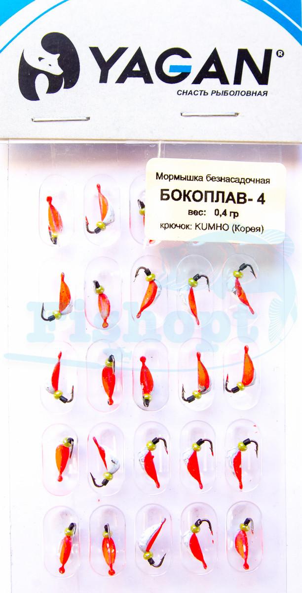 "Мормишка лита ""Бокоплав - 4"" Red 0,4 g (25шт\уп)"