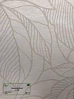 """Рулонные шторы ткань """"Полинезия"""" Белый"""