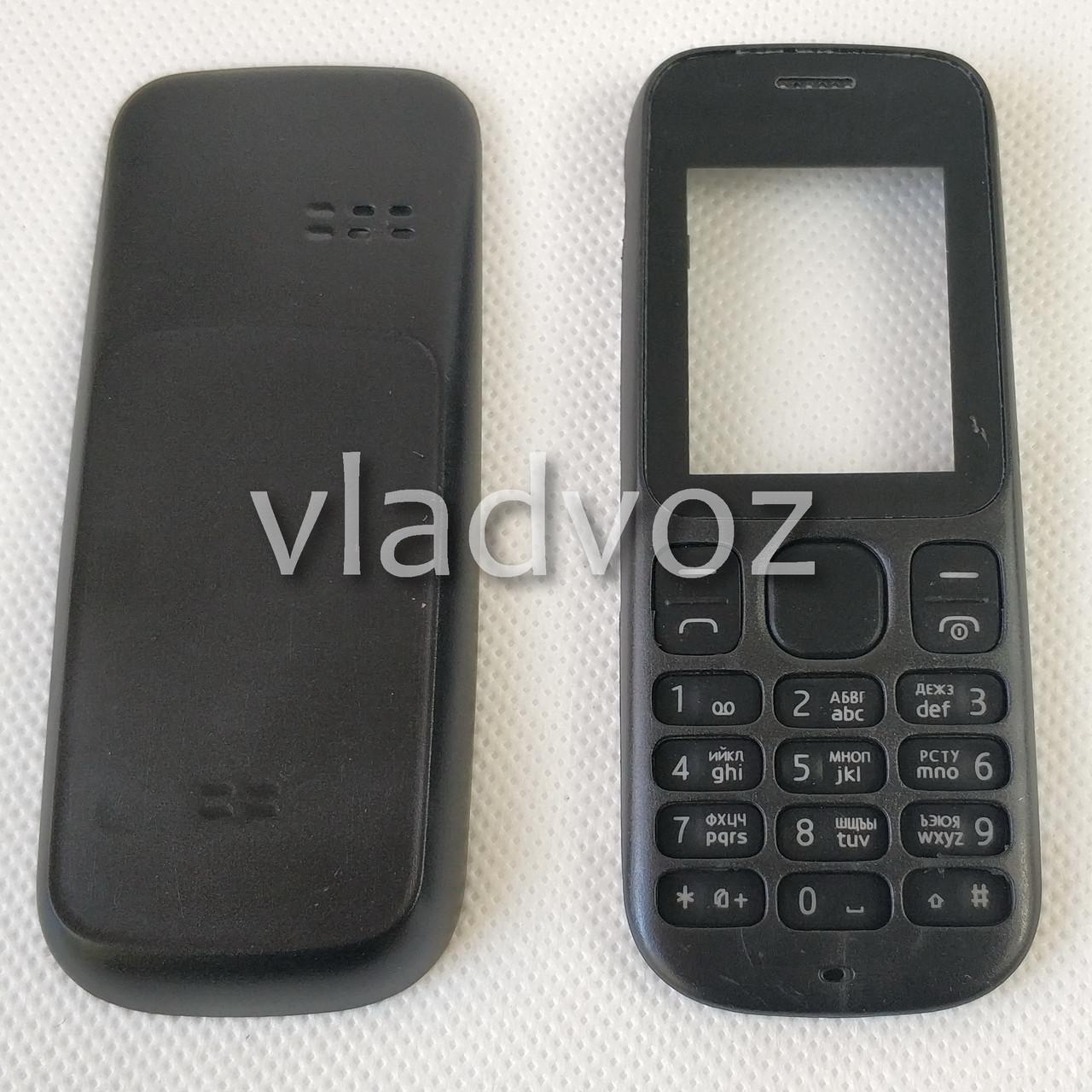 Корпус для Nokia 101 чёрный без клавиатуры недорогой