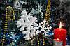 Снежинка из пенопласта маленькая 9 см